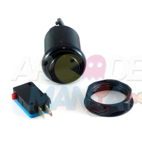 Image of Black Concave Button