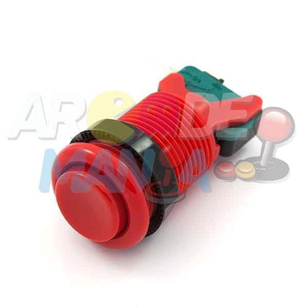 Image of Red Concave Button