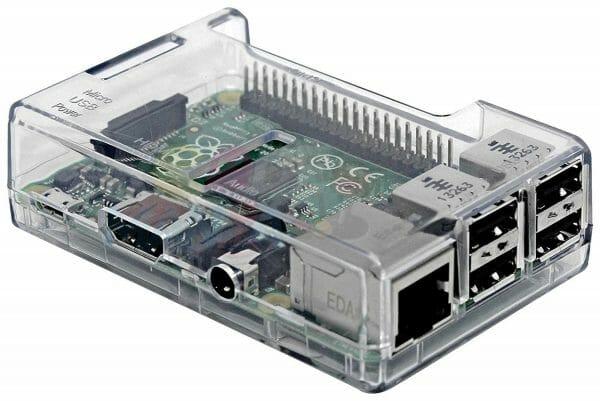 Raspberry Pi 3 Clear Case Image