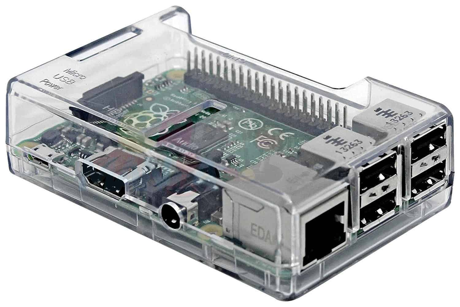 Raspberry Pi 3 Clear Case Image