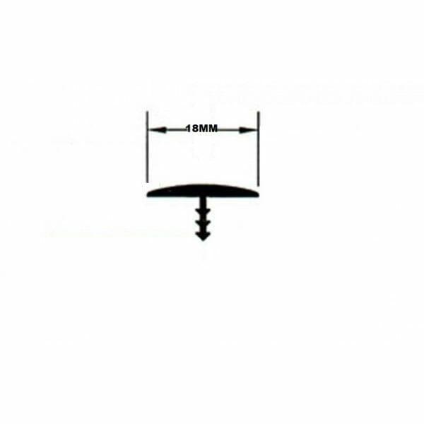 Black 18mm T-Molding Trim Screw Dimensions Image