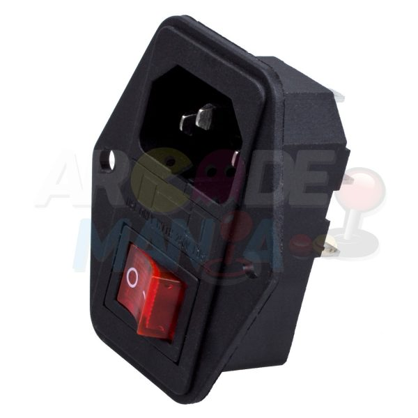Image of 3 Pin IEC320 C14 Inlet Module Plug Switch Male Power Socket 10A 250V