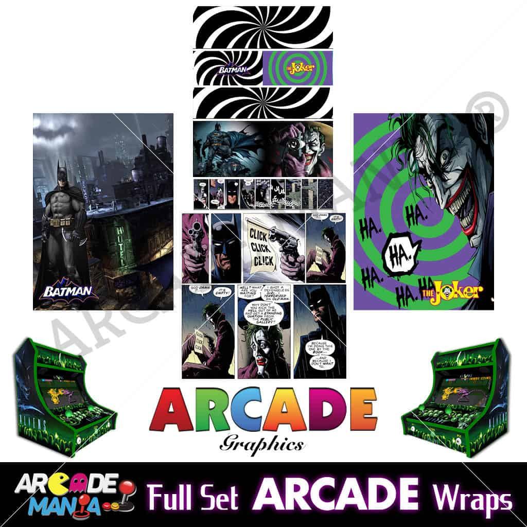 Image of Batman Arcade Machine Graphics Wraps