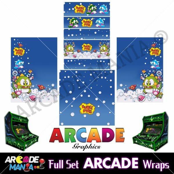 Image of Bubble Bobble Arcade Machine Graphics Wraps