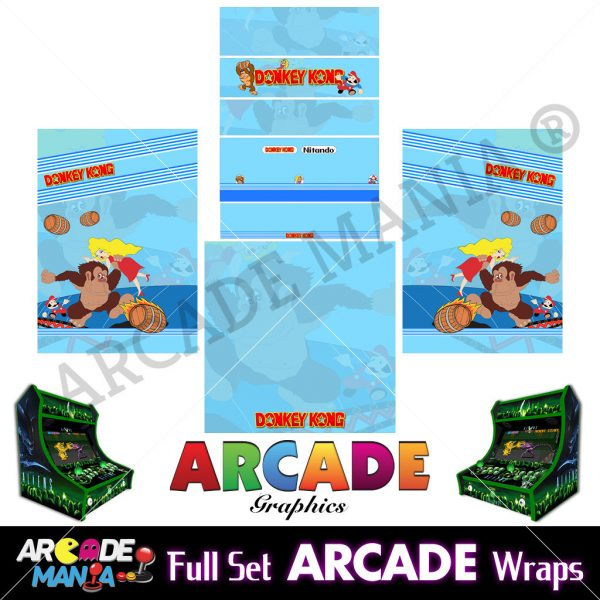 Image of Donkey Kong Arcade Machine Graphics Wraps