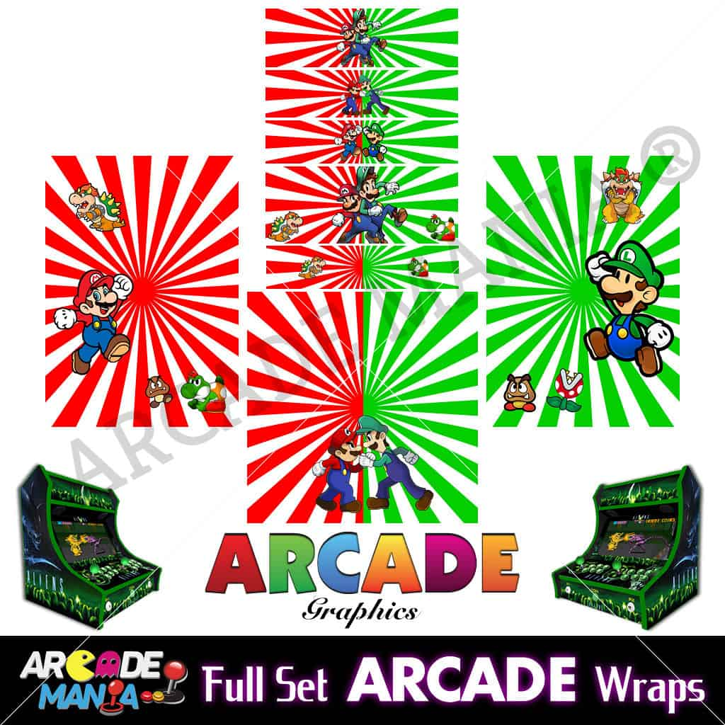 Image of Mario & Luigi Arcade Machine Graphics Wraps