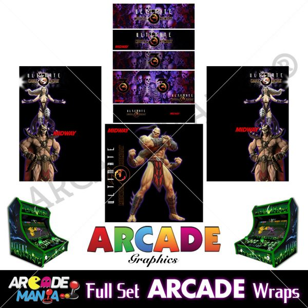 Image of Mortal Kombat Arcade Machine Graphics Wraps
