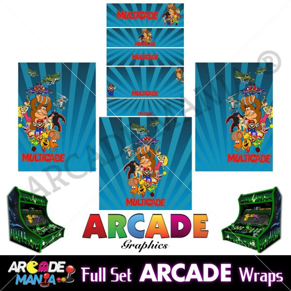 Image of Multicade (Blue) Arcade Machine Graphics Wraps
