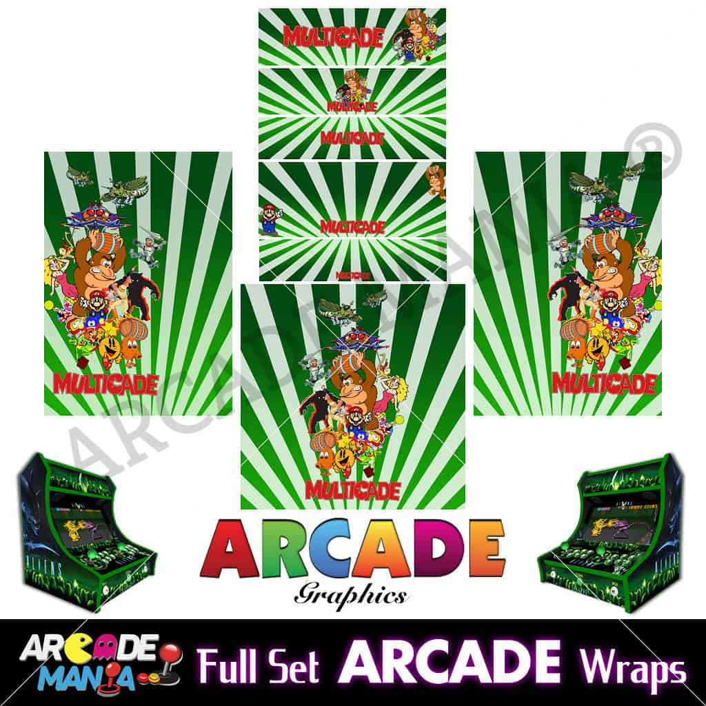 Image of Multicade (Green) Arcade Machine Graphics Wraps