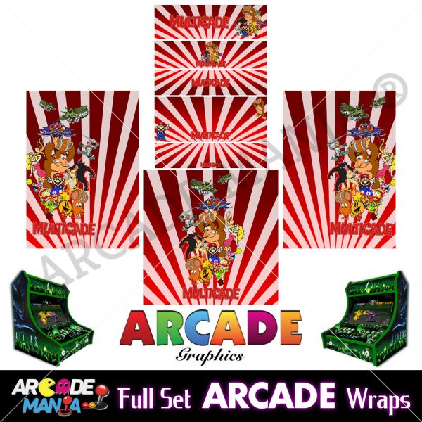 Image of Multicade (Red) Arcade Machine Graphics Wraps
