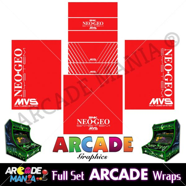 Image of Neo Geo (Red) Arcade Machine Graphics Wraps