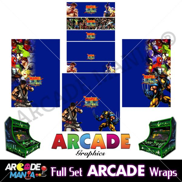 Image of Marval vs Capcom Arcade Machine Graphics Wraps