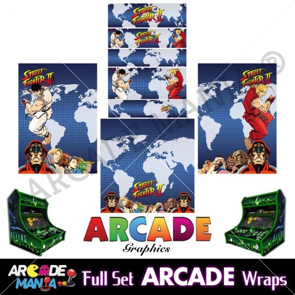 Image of Street Fighter 2 Arcade Machine Graphics Wraps