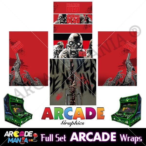Image of Walking Dead Arcade Machine Graphics Wraps