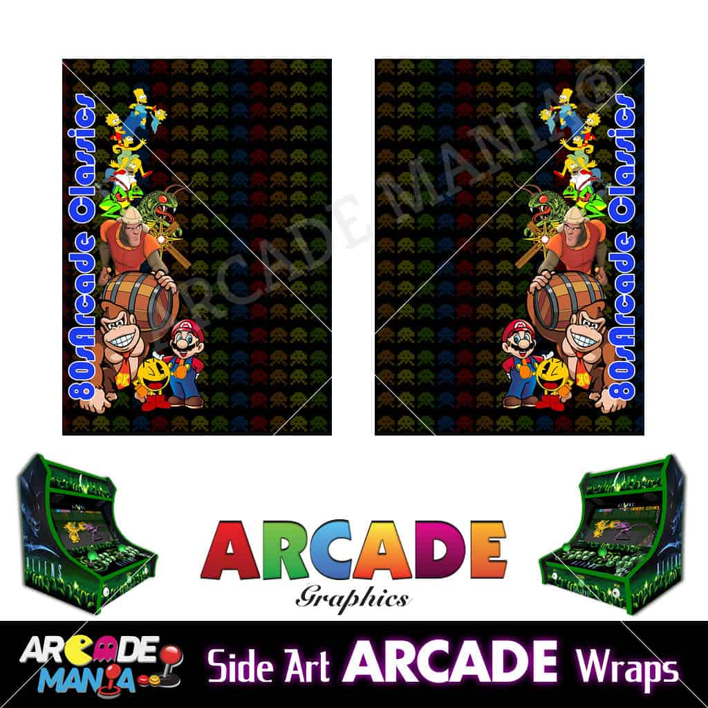 Image of 80s Arcade Machine Graphics Wraps