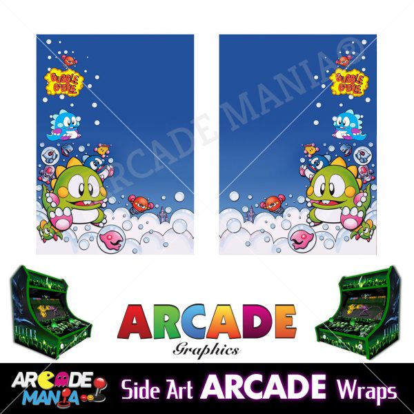 Image of Bubble Bobble Arcade Machine Graphics Wraps