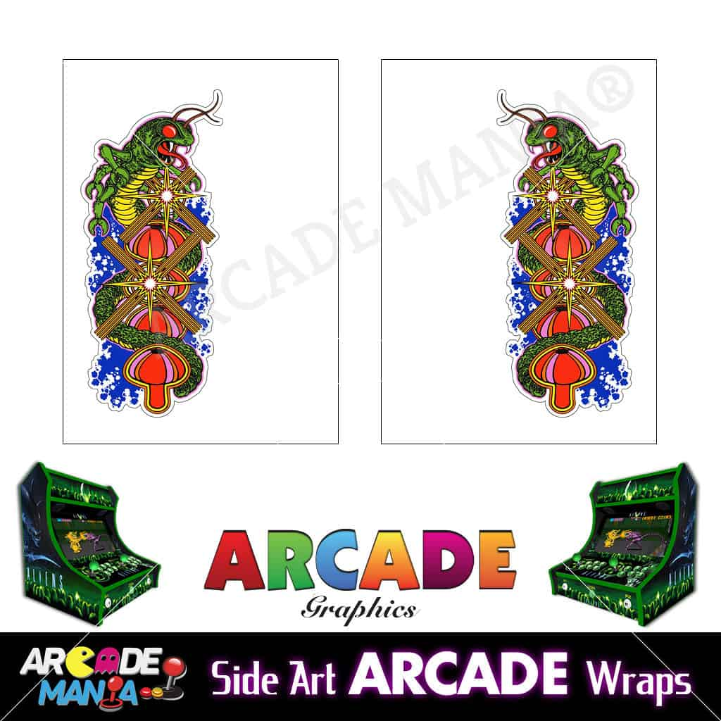 Image of Centipede Arcade Machine Graphics Wraps