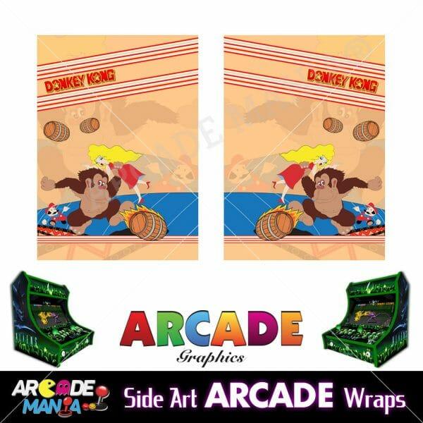Image of Donkey Kong Arcade Machine Graphics Wraps