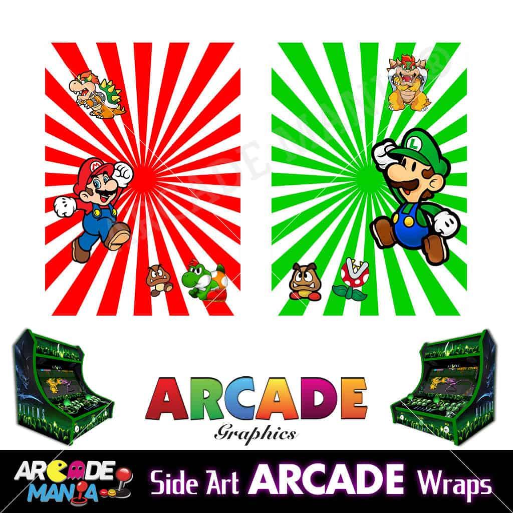 Image of Mario & Luigi Arcade Machine Graphics Wraps