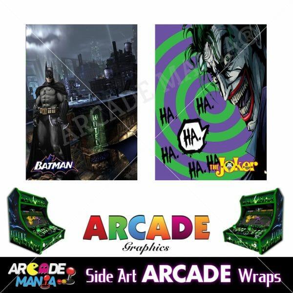 Image of Batman vs Joker Arcade Machine Graphics Wraps