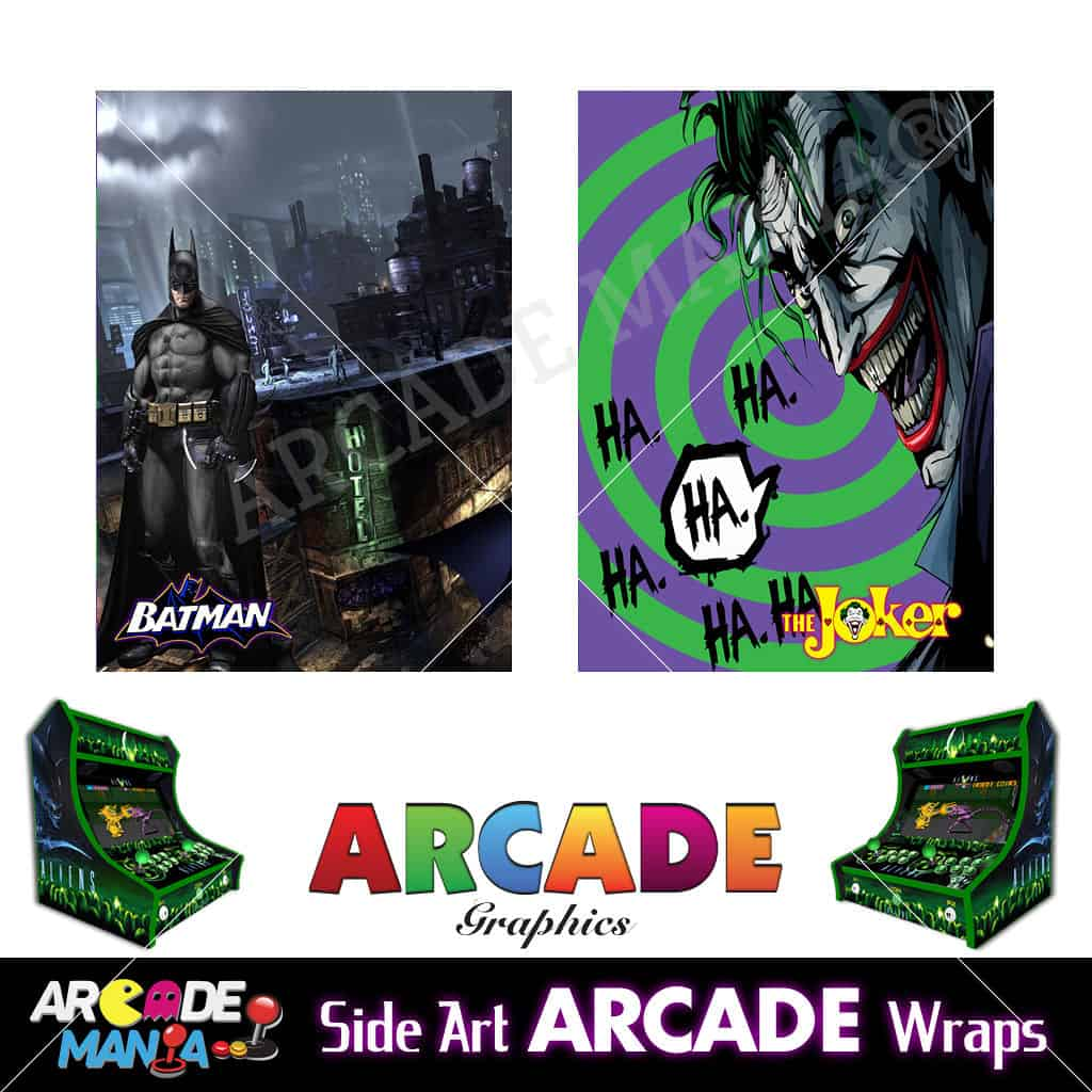 Image of Batman vs Joker Arcade Machine Graphics Wraps