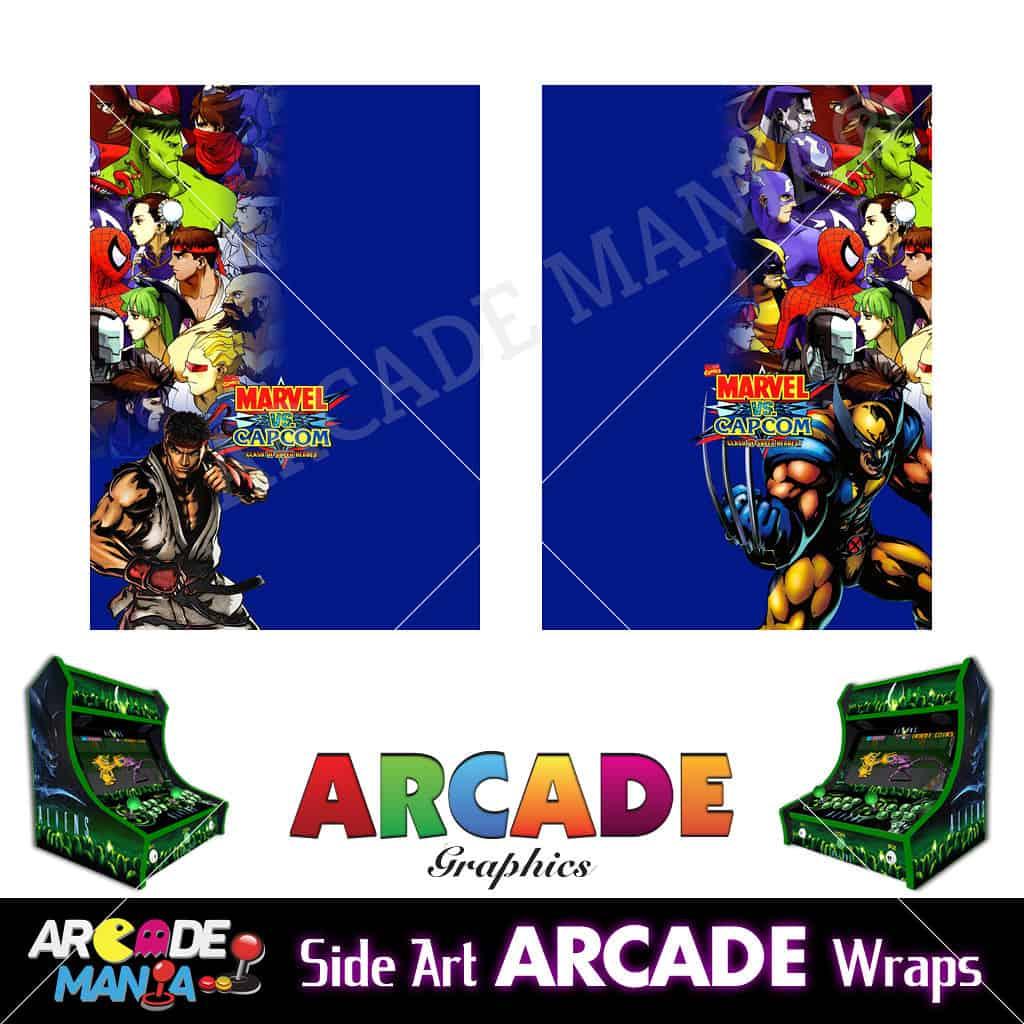 Image of Marval vs Capcom Arcade Machine Graphics Wraps