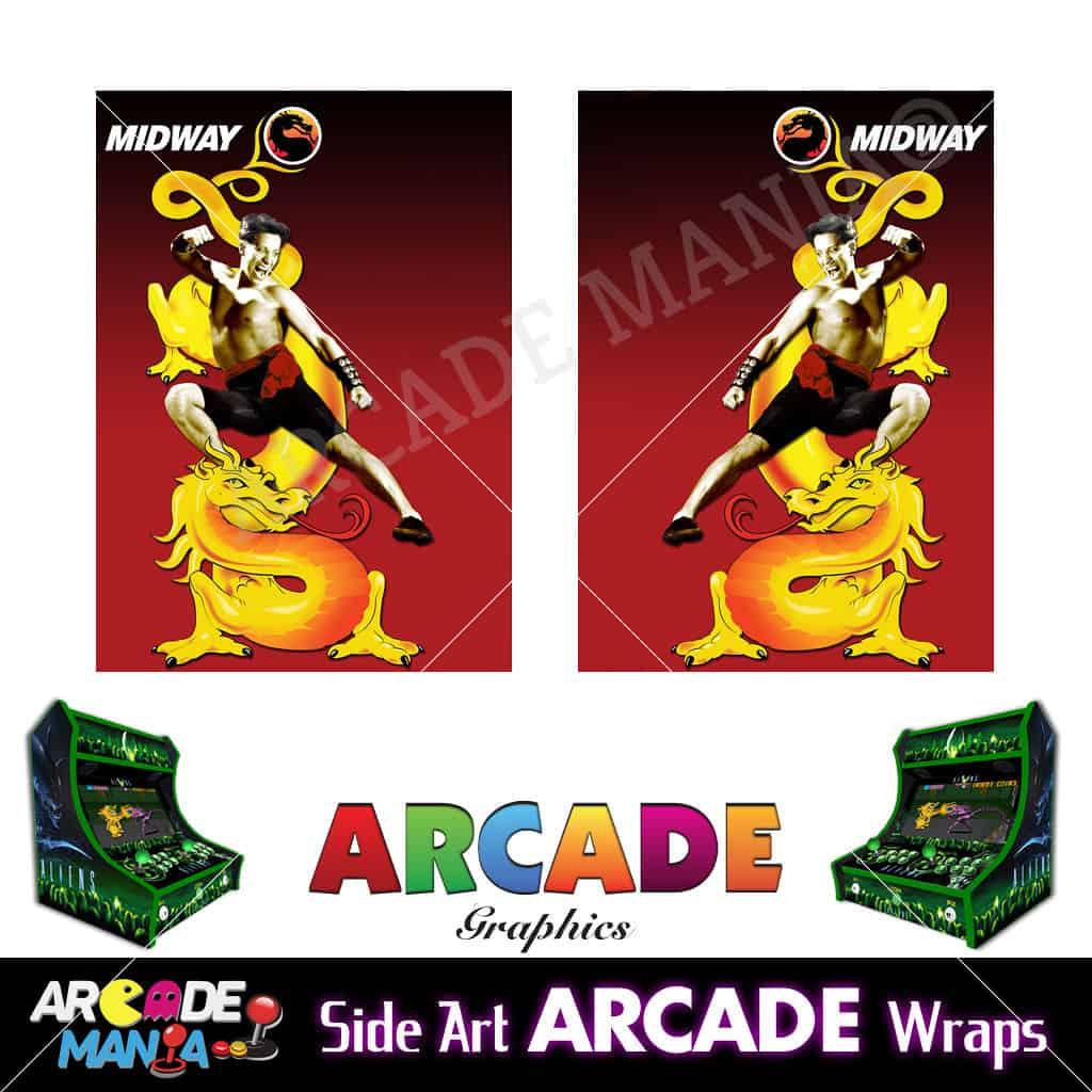 Image of Mortal Kombat Arcade Machine Graphics Wraps