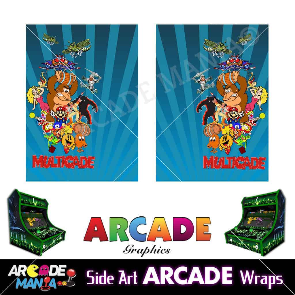 Image of Donkey Kong (Blue) Arcade Machine Graphics Wraps