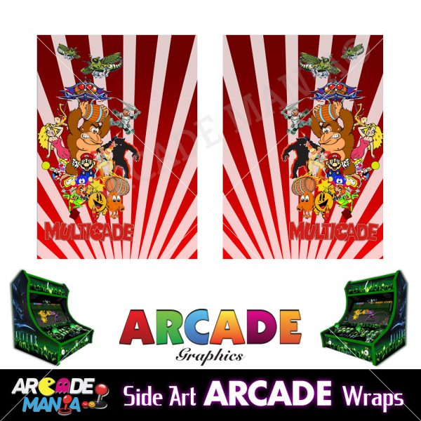 Image of Donkey Kong (Red) Arcade Machine Graphics Wraps