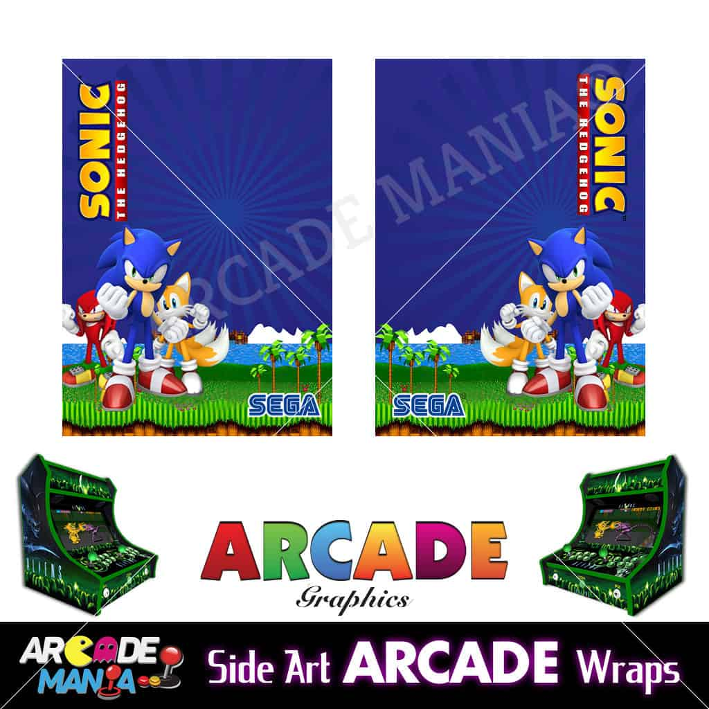 Image of Sonic The Hedgehog Arcade Machine Graphics Wraps