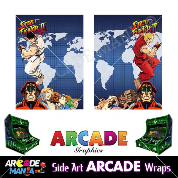 Image of Street Fighter 2 Machine Graphics Wraps