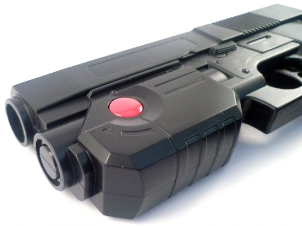 Black Aim Trak Arcade Light Gun With Line Of Sight Image