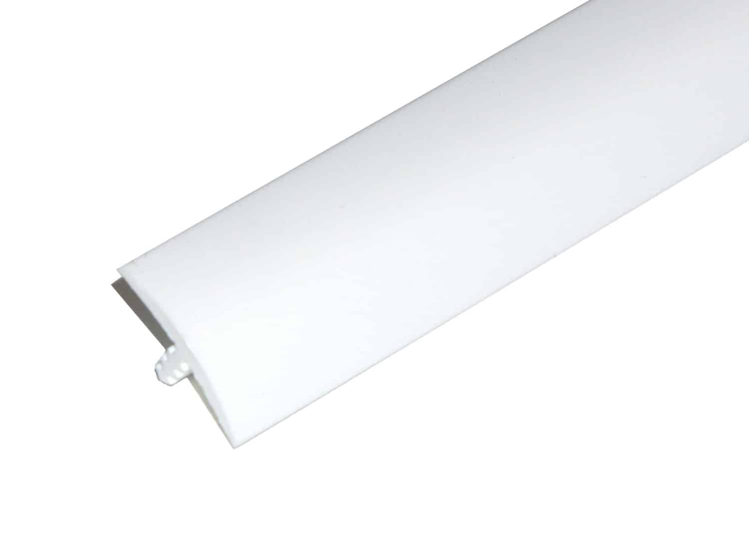 White 3 Quarter Inch T-Molding 19.5mm Trim Image