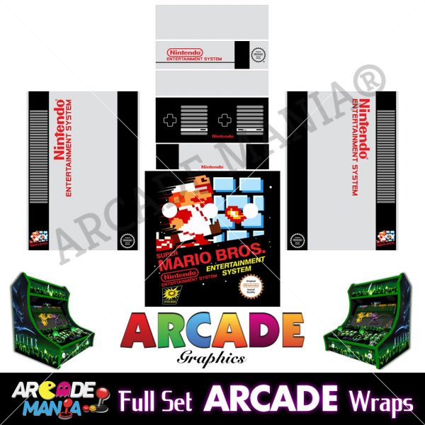 Image of SNES Arcade Machine Graphics Wraps