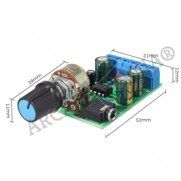 Image of Amplifier 2.0 Channel Stereo Module Dimensions