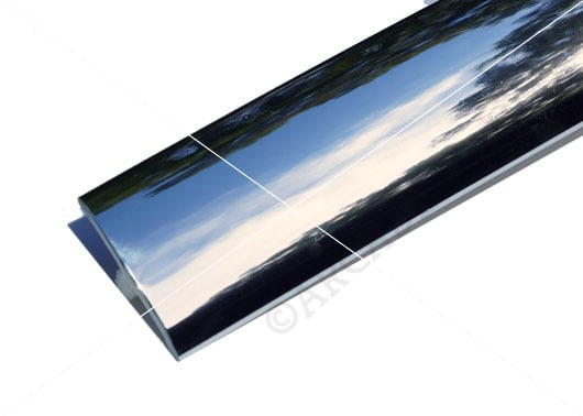 Chrome 3 Quarter Inch T-Molding 19.5mm Trim Image