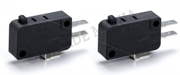 Image of 2 Zippy Button Microswitches with 4.8mm Terminals