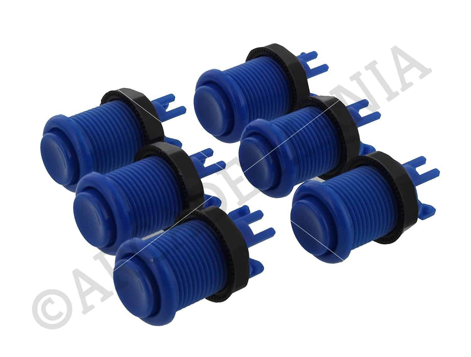 Image of 6 Blue Colour Concave Buttons