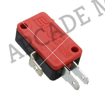 Image of Basic Button Microswitch With 4.8mm Terminals