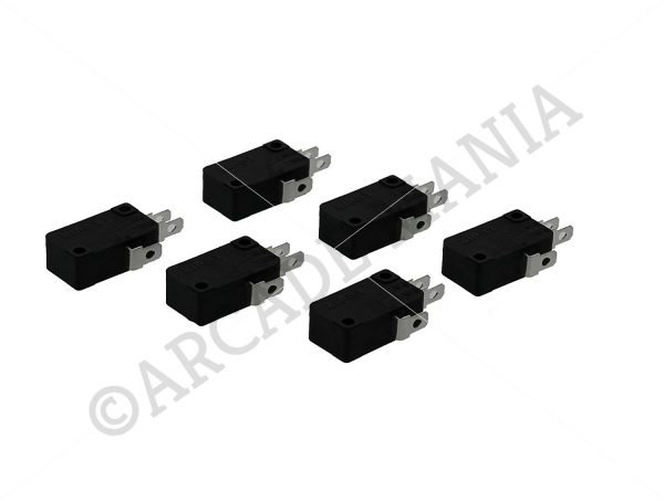 Image of 6 Zippy Button Microswitches with 4.8mm Terminals